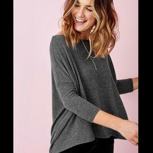 Stella & Dot Addy Poncho -Grey Knit